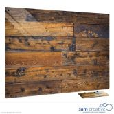 Glass Series Ambience Old Wooden Fence 60x90 cm
